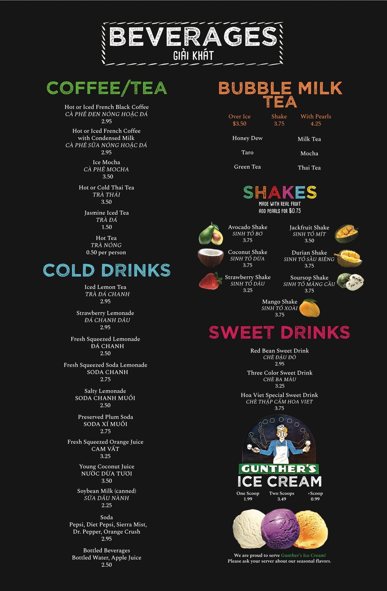 14. Drinks
